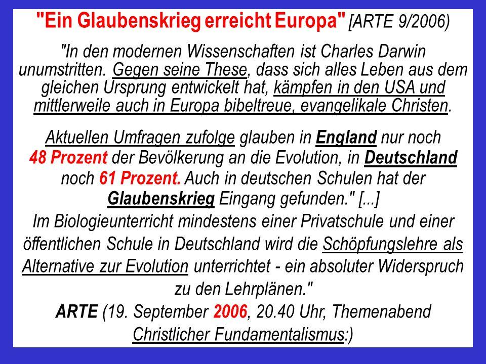 Ein Glaubenskrieg erreicht Europa [ARTE 9/2006)